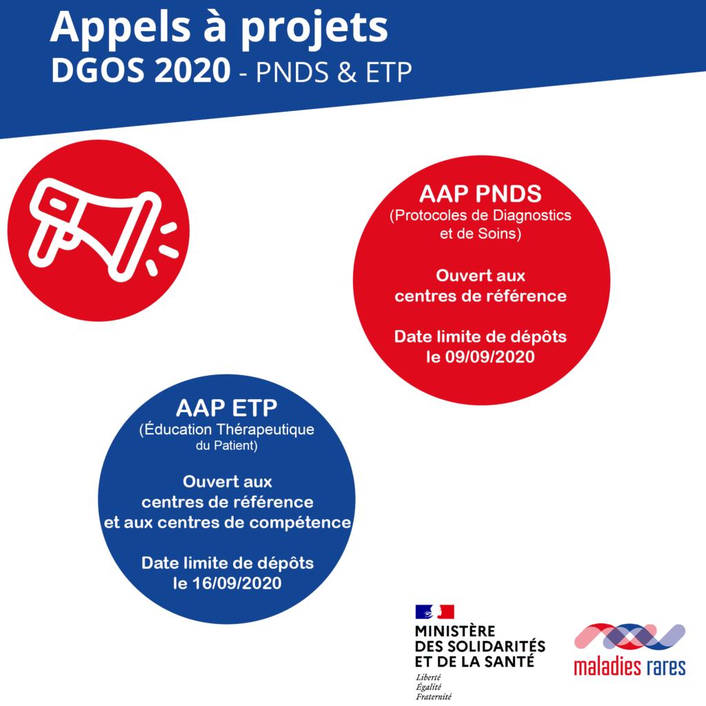 appels à projets DGOS ETP et PNDS juin 2020