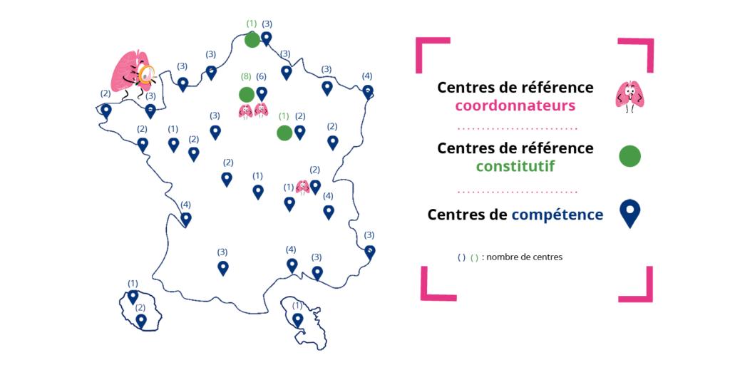 carte de france des centres de référence et de compétence